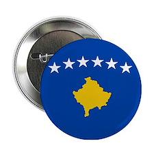 """Kosova's New Flag! 2.25"""" Button"""