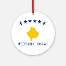 Kosova's New Flag! Ornament (Round)