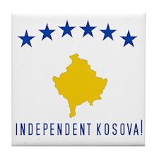 Kosova's New Flag! Tile Coaster