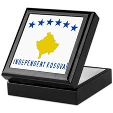 Kosova's New Flag! Keepsake Box
