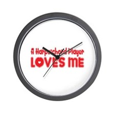 A Harpsichord Player Loves Me Wall Clock