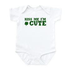 Kiss Me I'm Cute Infant Bodysuit