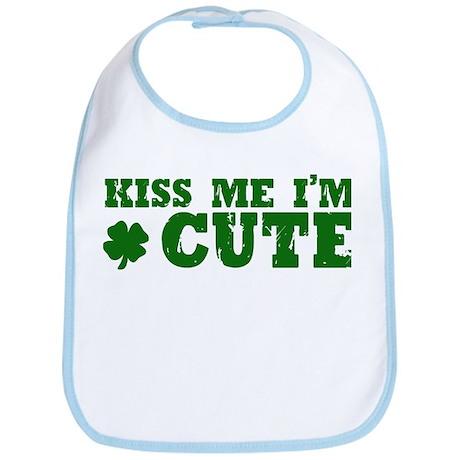 Kiss Me I'm Cute Bib