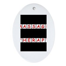 Massage Therapy Crossword Puz Oval Ornament