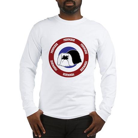 Pekingese Bullseye Long Sleeve T-Shirt