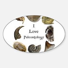 Paleontology 1 Oval Decal