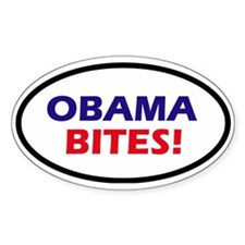 Obama Bites! Oval Decal