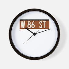 86th Street in NY Wall Clock