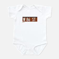 86th Street in NY Infant Bodysuit