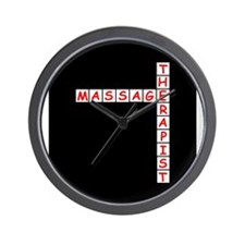 Massage Therapy Crossword Wall Clock