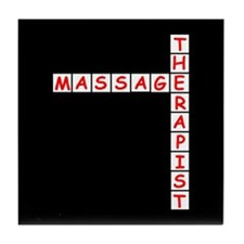 Massage Therapy Crossword Tile Coaster