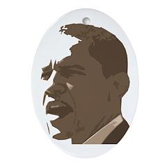 Obama in Sepia 2008 Oval Ornament