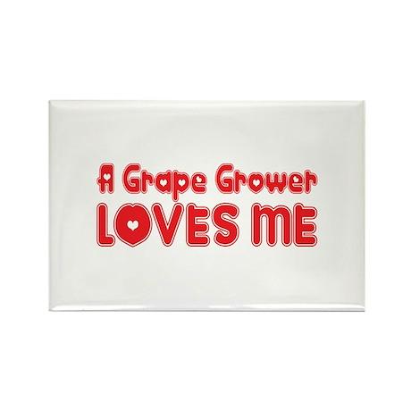 A Grape Grower Loves Me Rectangle Magnet (10 pack)