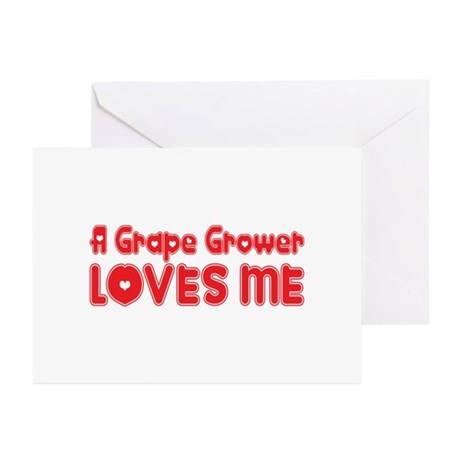 A Grape Grower Loves Me Greeting Cards (Pk of 10)