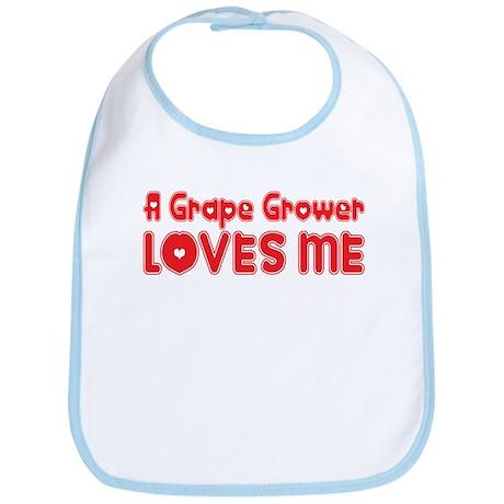 A Grape Grower Loves Me Bib