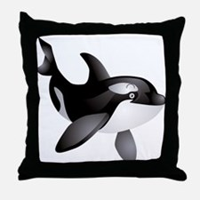 Friendly Orca Throw Pillow