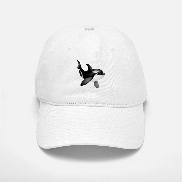 Friendly Orca Baseball Baseball Cap