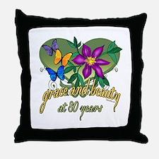 Beautiful 80th Throw Pillow