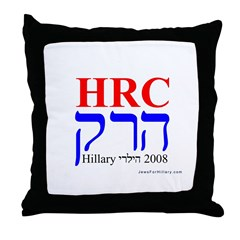 Jews For Hillary 2008 Throw Pillow