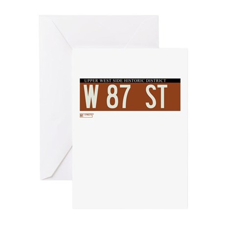 87th Street in NY Greeting Cards (Pk of 20)