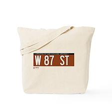 87th Street in NY Tote Bag