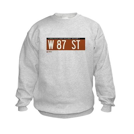 87th Street in NY Kids Sweatshirt