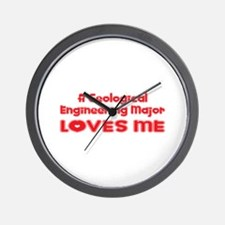 A Geological Engineering Major Loves Me Wall Clock