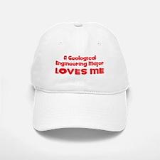 A Geological Engineering Major Loves Me Baseball Baseball Cap