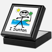 Suntan Stick Figure Keepsake Box