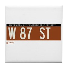 87th Street in NY Tile Coaster