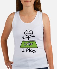 Mahjong Stick Figure Women's Tank Top
