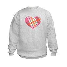 Pretty in Plaid Heart Sweatshirt