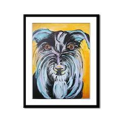Terrier Framed Panel Print