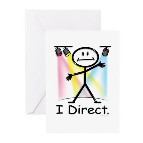 Theater Play Director Greeting Cards (Pk of 20)