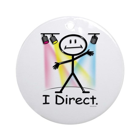 Theater Play Director Ornament (Round)