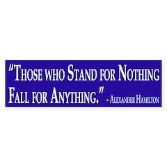 Hamilton Quote (bumper sticker)