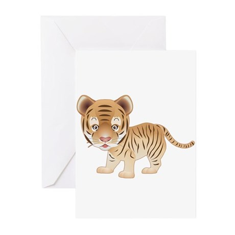 Cuddly Baby Tiger Greeting Cards (Pk of 20)