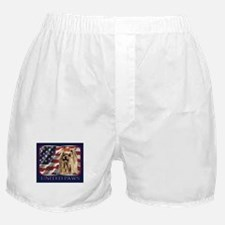Yorkie terrier Patriotic USA Flag Boxer Shorts