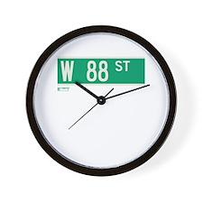 88th Street in NY Wall Clock