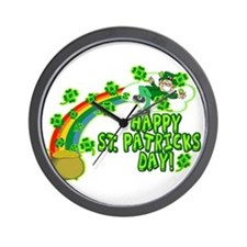 Happy St. Patrick's Day Classic Wall Clock