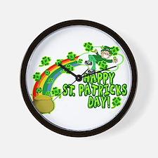Happy St. Patrick's Day Classic Wall Clock