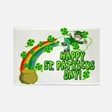 Happy St. Patrick's Day Classic Rectangle Magnet (