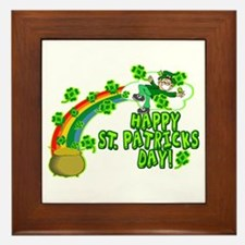 Happy St. Patrick's Day Classic Framed Tile