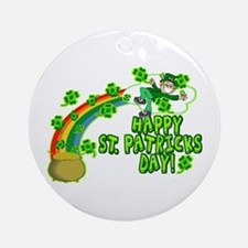 Happy St. Patrick's Day Classic Ornament (Round)