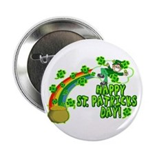 "Happy St. Patrick's Day Classic 2.25"" Button"