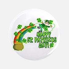 "Happy St. Patrick's Day Classic 3.5"" Button (100 p"