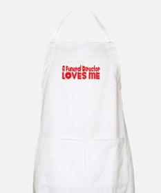 A Funeral Director Loves Me BBQ Apron
