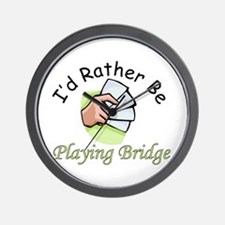 Playing Bridge Wall Clock