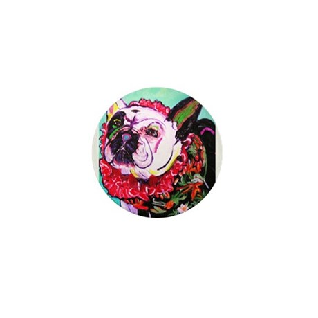 Hawiian French Bulldog Mini Button (10 pack)