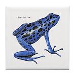 Blue Poison Frog Tile Coaster